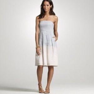 J Crew Ombré Embossed Lorelei Dress 0
